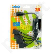 4World HUB USB 2.0 4 portai, pasyvus, ''aštuonkojis''