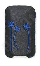 16-C mėlynas FLOWER universalus dėklas i4 Telemax juodas