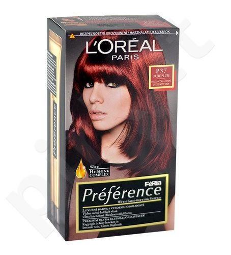 L´Oreal Paris Préférence Féria Hair Colour, kosmetika moterims, 1vnt, (P37 Pure Plum)