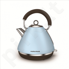 Kettle Morphy richards 102100 Standard kettle, Stainless steel, Azure, 3000 W, 1.5 L, 360° rotational base