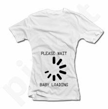 """Moteriški marškinėliai """"Baby loading"""""""