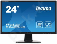 LCD 24'' Prolite B2483HS-B1, LED, Full HD, DVI, HDMI, Garsiakalbiai, black