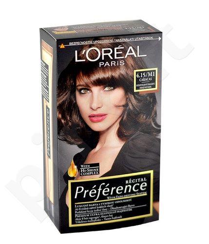 L´Oreal Paris Préférence Récital Hair Colour, kosmetika moterims, 1vnt, (4,15-M1 Caracas)