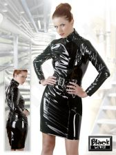 Vinyl Dress with Belt XL