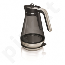 Morphy richards 108000 Standard kettle, Glass, Stainless steel/Black, 3000 W, 360° rotational base, 1.5 L