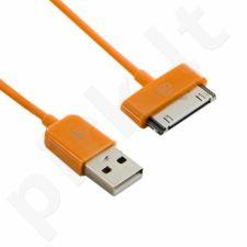 4World iPad / iPhone / iPod Kabelis USB 2.0 perkėlimo/įkrovimo 1.0m oranžinė