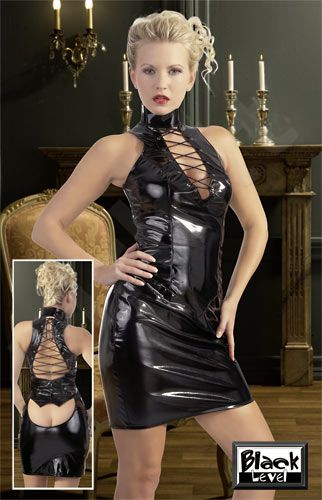 Vinyl Dress with Lacing L