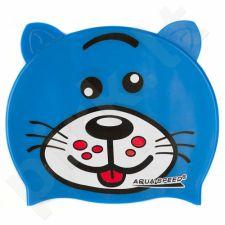 Maudymosi kepuraitė  Aqua-Speed silikoninė   ZOO Dog Junior mėlynas