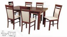 Stalas WENUS-P V + 6 kėdės MILANO VI