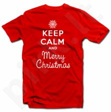 """Marškinėliai """"Keep calm Merry Christmas"""""""