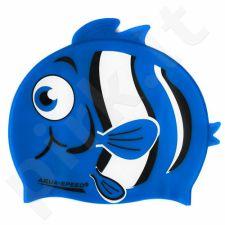 Maudymosi kepuraitė  Aqua-Speed silikoninė   ZOO Nemo Junior mėlynas