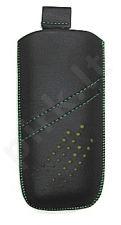 16-B žalias SEAM universalus dėklas N100 Telemax juodas