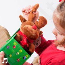 Dainuojantis Kalėdinis pliušinis žaislas šventinėje dėžutėje