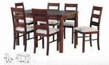 Stalas MAX V + 6 kėdės NILO VII