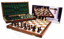Turnyrinių šachmatų rinkinys 4 dydis, medinėje dėžutėje 42x21cm