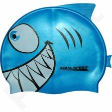 Maudymosi kepuraitė  Aqua-Speed silikoninė   SHARK Junior