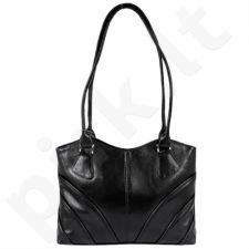 DAN-A T213 juoda rankinė iš natūralios odos , moteriška