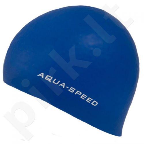 Maudymosi kepuraitė  Aqua-Speed silikoninė   3D Cap mėlynas