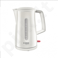 Bosch TWK3A011 Standard kettle, Plastic, Cream, 2400 W, 360° rotational base, 1.7 L