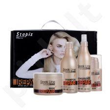 Stapiz Sleek Line Repair plaukų priežiūros rinkinys moterims, (šampūnas 300 ml + Two-phase kondicionierius 300 ml + plaukų kaukė 250 ml + Nenuplaunamas kondicionierius Su šilku 30 ml)