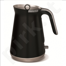 Morphy richards 100002 Standard kettle, Stainless steel, Black, 3000 W, 1.5 L, 360° rotational base