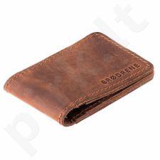 Odinė piniginė slim wallet BRODRENE SW02LB