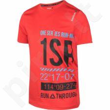Marškinėliai bėgimui  Reebok One Series Running Short Sleeve Graphic M AX9504