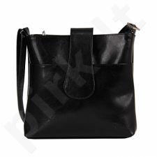 DAN-A T234 juoda rankinė iš natūralios odos , moteriška