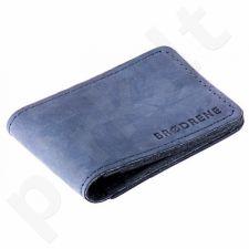Odinė piniginė slim wallet BRODRENE SW02N