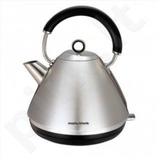 Morphy richards 102022  Standard kettle, Stainless steel, Stainless steel, 2200 W, 1.5 L, 360° rotational base