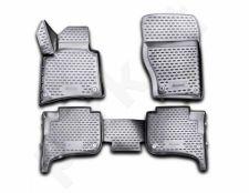 Guminiai kilimėliai 3D VW Touareg 2010-2015, 2015->, 2-zone climate control, 4 pcs. /L65009G /gray