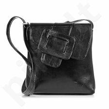 DAN-A T123 juoda rankinė iš natūralios odos , moteriška
