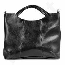 DAN-A T105 juoda rankinė iš natūralios odos , moteriška