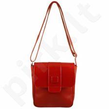 DAN-A T123A raudona rankinė, odinė, moterims