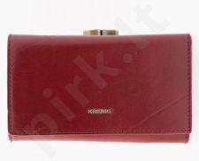 KRENIG El Dorado 11022 - IŠSKIRTINĖ raudona odinė piniginė, moterims
