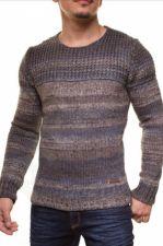 Šiltas megztinis CRSM - oranžinio atspalvio-pilka 9502-2