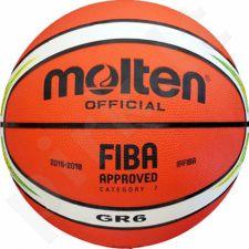 Krepšinio kamuolys Molten rubber BGR6-YG RIO-2016