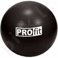 Gimnastikos kamuolys PROFIT 55cm juoda  DK 2102