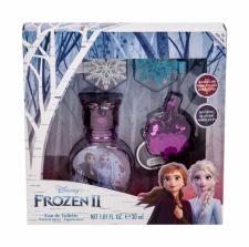 Disney Frozen II, rinkinys tualetinis vanduo vaikams, (EDT 30 ml + raktų pakabukas + plaukų Clip 2 pcs)