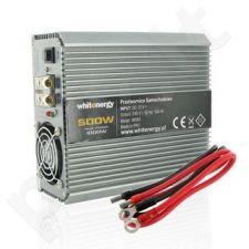 Whitenergy Inverteris AC/DC 12V (automobilis) 230V, 500W , 2 lizdai