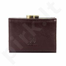KRENIG Classic 12011 - IŠSKIRTINĖ ruda odinė piniginė piniginė, moterims