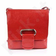 DAN-A T37 raudona rankinė, odinė, moterims