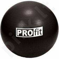 Gimnastikos kamuolys PROFIT 75cm juoda  DK 2102
