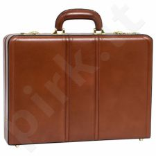 MCKLEIN Daley 80434 išskirtinė ruda  rankinė iš natūralios odos neseser