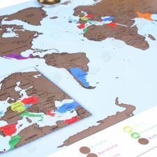 Keliautojo žemėlapis tūtoje - nutrink aplankytas vietas (86 x 60cm)