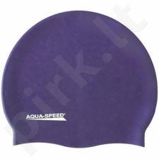 Maudymosi kepuraitė  Aqua-Speed silikoninė   Mega tamsiai mėlyna-violetinė