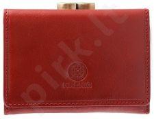 KRENIG Classic 12011 raudona piniginė iš natūralios odos, moterims