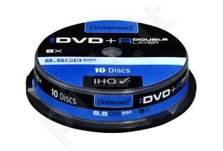 DVD+R DL DoubleLayer Intenso [ cakebox 10 | 8,5GB | 8x ]