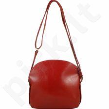 DAN-A T155 raudona rankinė, odinė, moterims