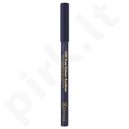 Dermacol 12H True Colour, akių kontūrų pieštukas moterims, 0,28g, (7 Grey)